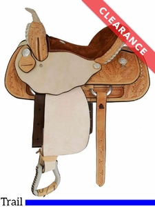 "SOLD 2017/07/19  16"" Dakota Light Oil Pleasure Trail Saddle 355 CLEARANCE"
