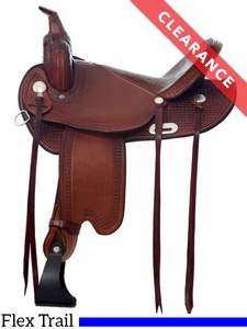 "14"" Dakota Lightweight Medium Flex Tree Trail Saddle 352 CLEARANCE"