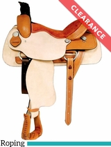 "16"" Dakota Roughout Wide Roping Saddle 502 CLEARANCE"