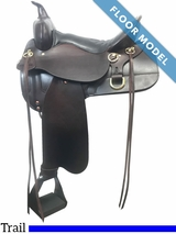 "PRICE REDUCED! 16"" High Horse Big Springs Medium Trail Saddle 6862, Floor Model"