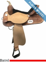 "PRICE REDUCED! 16"" High Horse Liberty Wide Barrel Saddle 6212, Floor Model"