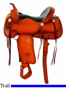 "** SALE ** 15.5"" to 17"" Billy Cook Trail Saddle 1784"