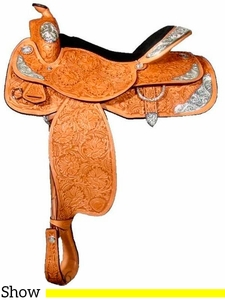 """** SALE ** 16"""" Tex Tan Hereford  'All American'  Show Saddle 292366NG6"""