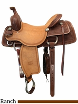 """16"""" to 17"""" Billy Cook Working Cow Horse Saddle 6310"""