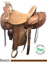 "16"" Used American Saddlery Medium Rancher 126 usam3952 *Free Shipping*"