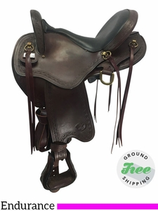 "16"" Used Big Horn Medium Endurance Saddle 808 usbh3675 *Free Shipping*"