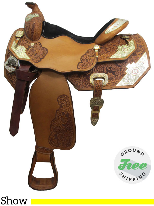 16 Quot Used Big Horn Show Saddle Wide Tree Usbh3057 Free