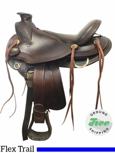 "16"" Used Big Horn Wide Flex Trail Saddle 1694 usbh3868 *Free Shipping*"