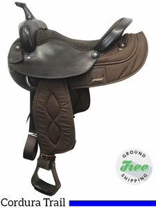 "16"" Used Big Horn Wide Synthetic Trail Saddle 206 usbh3835 *Free Shipping*"