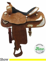 """16"""" Used Billy Cook Greenville Wide Show Saddle 934 usbi3466 *Free Shipping*"""