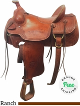 "16"" Used Billy Cook Wide Ranch Saddle 2080 usbi4036 *Free Shipping*"