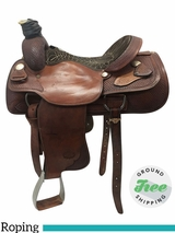 "16"" Used Billy Cook Wide Roping Saddle 2082 usbi3770 *Free Shipping*"