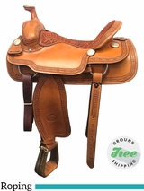 """SOLD 2017/09/19  16"""" Used Billy Cook Wide Roping Saddle 2121 usbi3894 *Free Shipping*"""