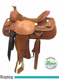 "SOLD 2017/08/04  16"" Used Billy Cook Wide Roping Saddle 4082 usbi3793 *Free Shipping*"