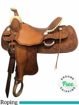 "16"" Used Billy Cook Wide Roping Saddle 7535 usbi3954 *Free Shipping*"