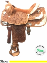 "16"" Used Billy Cook Wide Show Saddle 9022 usbi4091 *Free Shipping*"