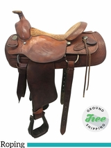 "16"" Used Billy Cook Wide Team Roper 2082 usbi3787 *Free Shipping*"