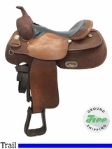 "16"" Used Billy Cook Wide Trail Saddle 1700 usbi3781 *Free Shipping*"