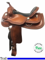 "16"" Used Billy Cook Wide Trail Saddle 1777 usbi4031 *Free Shipping*"