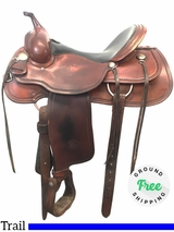 "16"" Used Billy Cook Wide Trail Saddle 1784 usbi3940 *Free Shipping*"