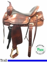 "16"" Used Billy Cook Wide Trail Saddle 2536 usbi3963 *Free Shipping*"