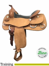"16"" Used Billy Cook Wide Training Saddle 6030 usbi3897 *Free Shipping*"