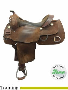 "SOLD 2017/07/20  16"" Used Billy Cook Wide Training Saddle 9030 usbi3764 *Free Shipping*"