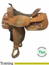 "16"" Used Billy Cook Wide Training Saddle 9030 usbi4063 *Free Shipping*"