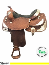 "16"" Used Billy Royal Medium Show Saddle usbr3923 *Free Shipping*"