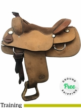 "16"" Used Billy Royal Wide Roughout Training Saddle usbr4030 *Free Shipping*"