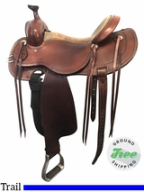 "16"" Used Cashel Outfitter Wide Trail Saddle usch3880 *Free Shipping*"