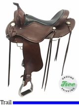 "16"" Used Cashel Wide Trail Saddle usch3783 *Free Shipping*"