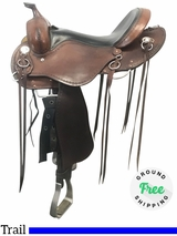 "16"" Used Cashel Wide Trail Saddle usch4061 *Free Shipping*"