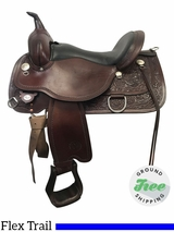 """SOLD 2017/08/24  16"""" Used Circle Y Cypress Wide Flex2 Trail Saddle 2360 uscy3872 *Free Shipping*"""