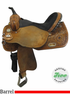 "SOLD 2017/08/14  16"" Used Circle Y Johnson Sport Line Wide Barrel Saddle 2606 uscy3532 *Free Shipping*"