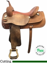 "16"" Used Circle Y Medium Cutting Saddle 2531 uscy3928 *Free Shipping*"