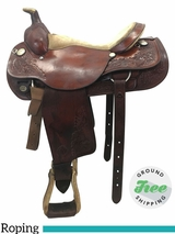 "16"" Used Circle Y Medium Roping Saddle 2709 uscy3769 *Free Shipping*"