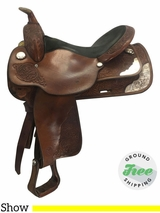 "16"" Used Circle Y Medium Show Saddle 2842 uscy3693 *Free Shipping*"