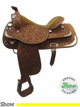 "16"" Used Circle Y Medium Show Saddle uscy3378 *Free Shipping*"