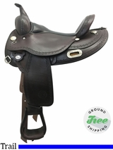 "16"" Used Circle Y Oasis Medium Flex2 Trail Saddle 1562 uscy3777 *Free Shipping*"