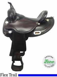 "16"" Used Circle Y Oasis Medium Flex2 Trail Saddle 1562 uscy3848 *Free Shipping*"