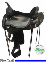 "16"" Used Circle Y Omaha Wide Flex Trail Saddle 1554 uscy3628 *Free Shipping*"