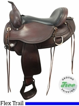 "16"" Used Circle Y Omaha Wide Flex2 Trail Saddle 1554 uscy3812 *Free Shipping*"