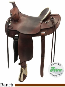 "SOLD 2017/08/19  16"" Used Colorado Saddlery Buckskin Wide Rancher usco3757 *Free Shipping*"