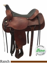 """SOLD 2017/07/14  16"""" Used Colorado Saddlery Wide Rancher 0-55 usco3724 *Free Shipping*"""