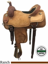 """16"""" Used Corriente Wide Ranch Saddle 62671 usct3761 *Free Shipping*"""