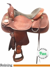 "16"" Used Crates Medium Reining Saddle 2221-4 uscr3931 *Free Shipping*"
