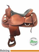"""SOLD 2017/09/14  16"""" Used Crates Wide Reining Saddle 2221-4W uscr3873 *Free Shipping*"""