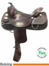 """16"""" Used Crates Wide Reining Saddle 2221-4W uscr4000 *Free Shipping*"""