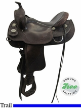 "16"" Used Crates Wide Gaited Trail Saddle 281-4 uscr3505 *Free Shipping*"